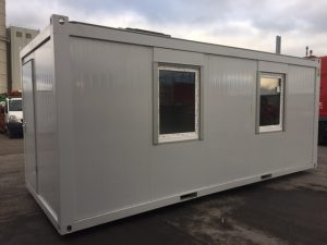 20ft x 8ft Portable Cabins can be used as a site office