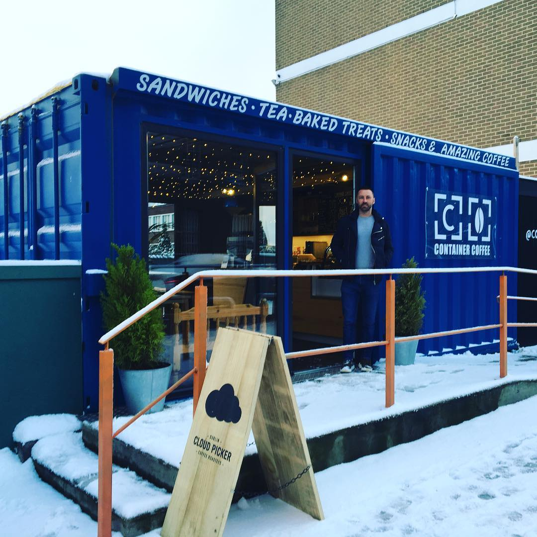 Container Coffee, Converted Shipping Container