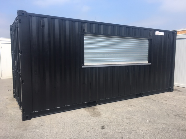 Tiny Home Designs: Adapted Containers With Roller Shutter
