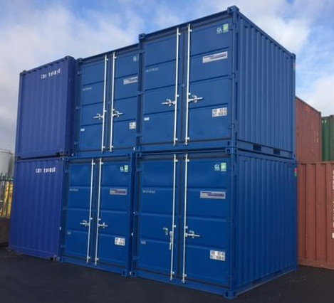Mini Shipping containers stacked 2 high