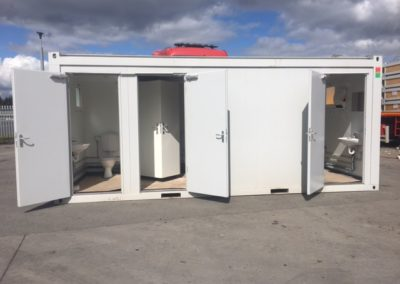 20ft Sanitary Unit with ladies & gents toilet and shower unit