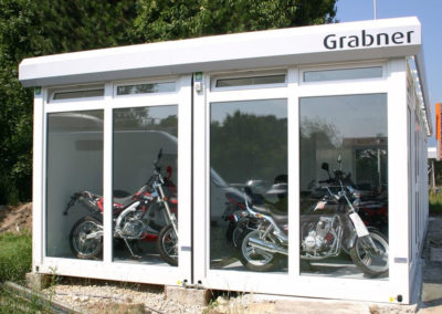 Portable Motorbike Sales Showroom